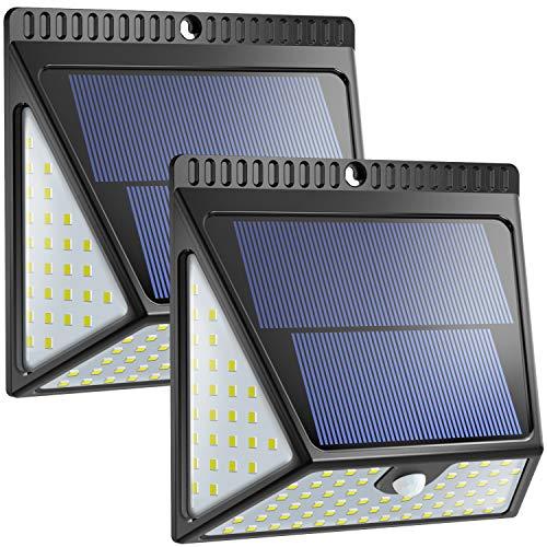 Neloodony 82 LED Solarlampen für den Außenbereich, Bewegungssensor Sicherheits wasserdichte-2pack