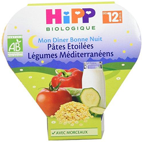 HiPP Biologique Pâtes Etoilées Légumes Méditerranéens dès 12 mois - 6 assiettes de 230g