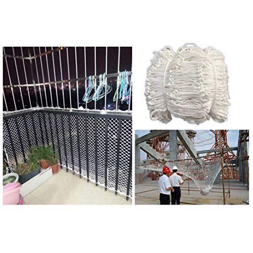 nylon net, geweven, kattennet voor ramen en klimplanten, veiligheidsnet, voor relingen, oprijplaten, 6 mm/5 cm, wit, net, bescherming voor het balkon. 6x10m