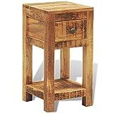 GOTOTOP - Mesita de noche con cajón, mesa de noche, extremo de sofá de madera maciza, mesa auxiliar moderna, armario de almacenamiento para dormitorio, salón, pasillo, oficina, 30 x 30 x 58 cm