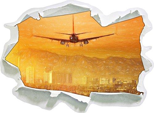 Preisvergleich Produktbild Urlaubsreise nach Las Vegas Kunst Buntstift Effekt,  Papier 3D-Wandsticker Format: 62x45 cm Wanddekoration 3D-Wandaufkleber Wandtattoo