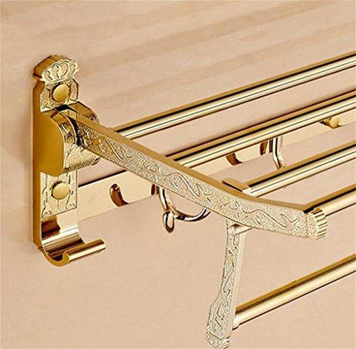 FAFZ Porte-serviettes de style européen en acier inoxydable, Porte-serviettes pliant, Racks de salle de bain (couleur : 18#)