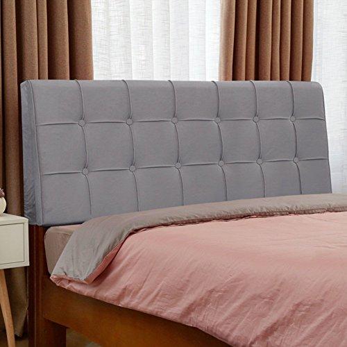 Kopfteil Nacht Kissen Kissen Soft Case Bett Großer Rücken Waschbar, Stoff, Mit Kopfteil/Ohne Kopfteil, 5 Farben, 7 Größen (Farbe: 1#, Größe: Mit Kopfteil-160cm)