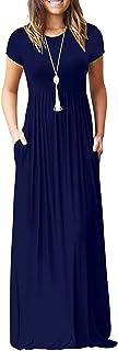 VIISHOW Women Long Sleeve Loose Plain Maxi Dresses Casual Long Dresses with Pockets
