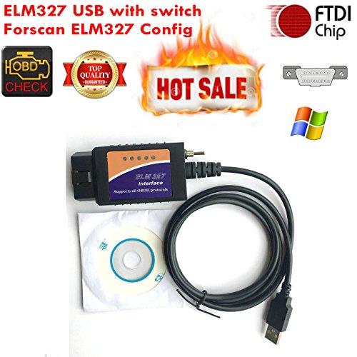 Forscan ELM327 USB Elmconfig OBD Gerät mit Schalter CAN BUS Fehlercode Scanner Diagnose-Tool für Amenrican Autos