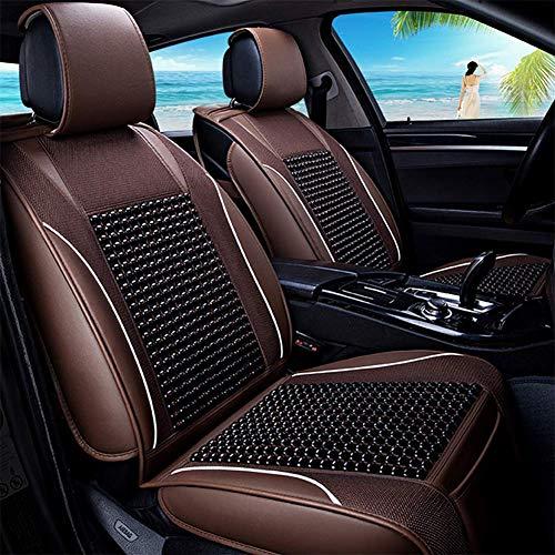 RUIX Sommer volle Auto sitzkissen Massage kühlen pad holzperlen autositzbezug autozubehör Auto Matte,coffeecolor