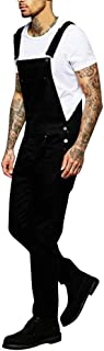 HaiDean Dungarees for Men Slim Modern Overalls Fit Casual Bib Denim Jumpsuit Jeans Spring Summer Solid Colors with Pockets...