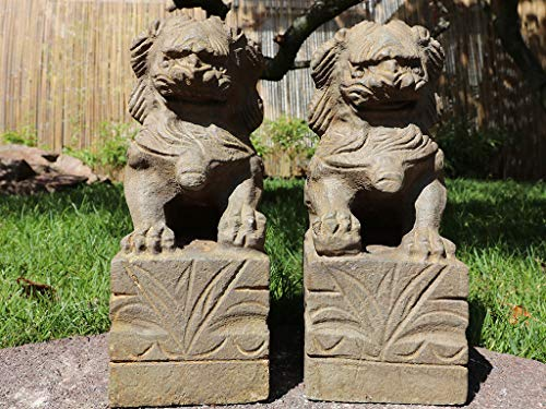 Yajutang Paar Fu Hunde Wächterlöwen Tempellöwen Steinfigur