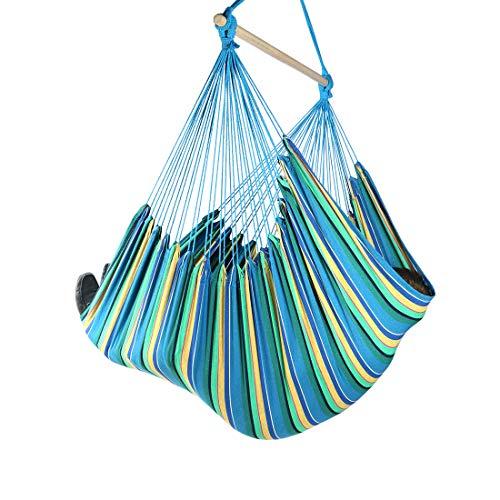 Chihee XXL Hängesessel Extra großer Hängesessel Entspannen Sie Sich Schaukelstuhl Baumwollgewebe für überlegenen Komfort Schlafzimmer im Freien Terrasse Garten