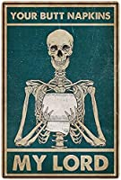 RCY-T Bear Poster ブリキサイン Vintage Your Butt Napkings My Master Bar Home Bathroom Toilet Man Cave Wall Decoration 8x12 Inches Gift Retro Classic-5-8x12 inch