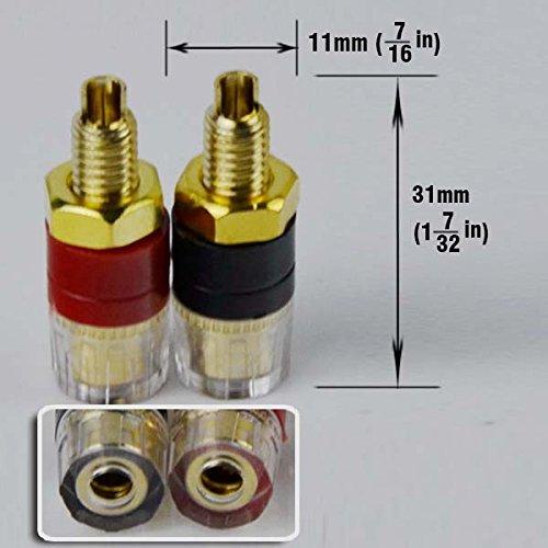 Length:1.3 20 Pack CESS Amplifier Terminal Connector Binding Post Banana Plug Jack Socket Panel//Chassis Mount Connectors