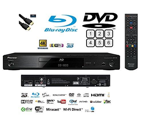 Pioneer Multiregion bdp-1803D Blu-ray/DVD (Multiregion)/CD-Player mit 4K Upscaling und integriertem Wi-Fi und HDMI führen