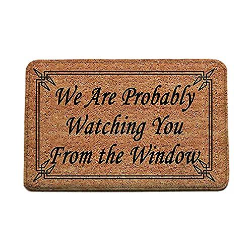 Felpudos para Entrada casa 60x90 cm, Alfabeto inglés Door Rug Antideslizante for House,Marrón Retro Alfombra para Puerta Interior Cocina Dormitorio, Absorbente y Lavable
