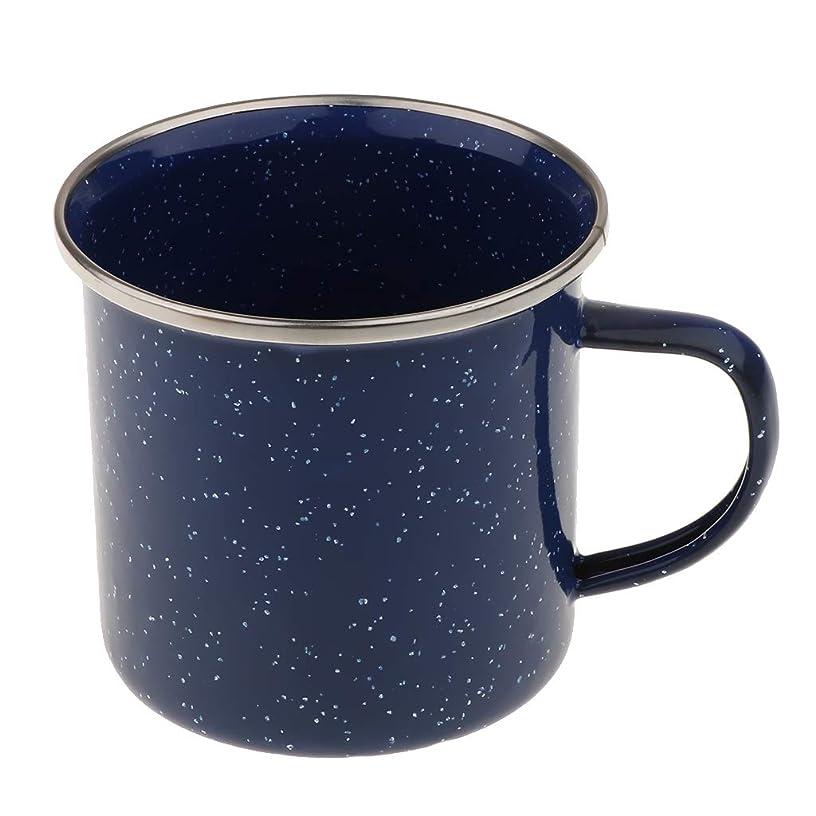 DYNWAVE 300ml Camping Enamel Mug Cup Enamelware Tea Coffee Mug Retro Vintage Style