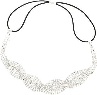 Lux Accessories dorato filigrana nuziale occasioni speciali stretch fascia