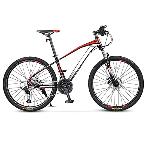Pateacd Mountain Bike 26' for Adult Men And Women 27 Speed Gears Lightweight Alloy Front Suspension MTB Bike Downhill Bicycle with Disc Brakes Shock Absorbing Sport Bikes,Black