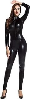 Catsuit Women Bodysuit Zip up Clubwear Stripper