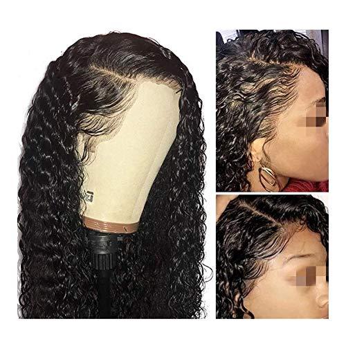 Femmes Perruques Lace Front Cheveux courts bouclés Brésilien BOB long Afro profond Vague Remy Pré plumé cheveux for les femmes pour les femmes Cosplay Party (Size : 16inch bob wig)