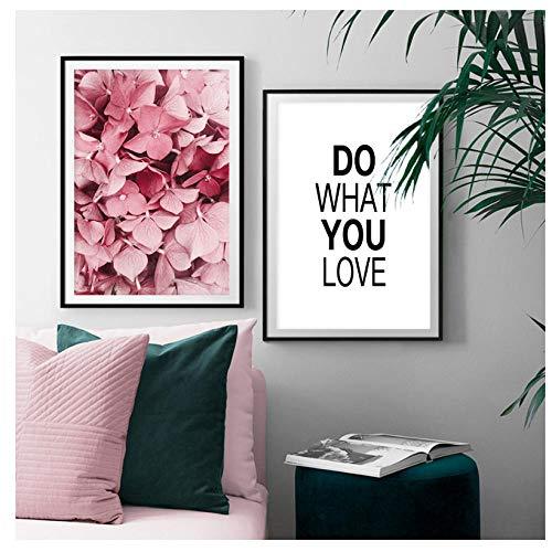 kaxiou Roze Dode Bloem Riet Succulente Planten Nordic Posters En Prints Wandkunst Canvas Schilderen Muur Foto's Voor Woonkamer Decor-40X50Cmx2 Stks Geen Frame