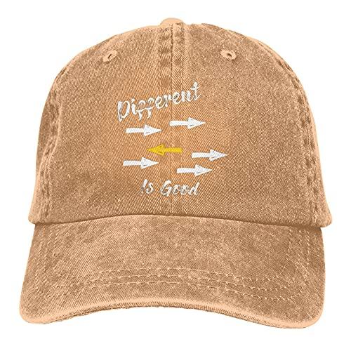 Gymini Different is Good 1 Casquette de baseball réglable en coton lavable pour homme et femme