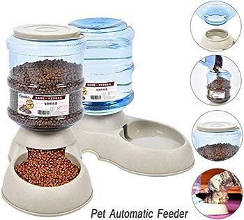 Fablcrew 1Pcs Distributeur de Nourriture Automatique 3.75L, Alimentation pour Chien Chat Accesoires Gamelle Animaux Domestiques