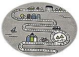 Merinos Kinderteppich Straßenteppich Lernteppich Junge mit Straßen und Häusern in Grau Größe 160x230 cm - 4