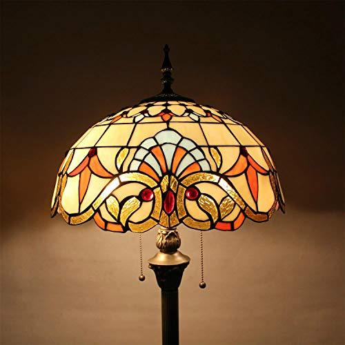 HDO Lámpara de pie Hecha a Mano del Vidrio Manchado Creativo de Lujo Elegante del Estilo Pastoral Barroco de 16 Pulgadas