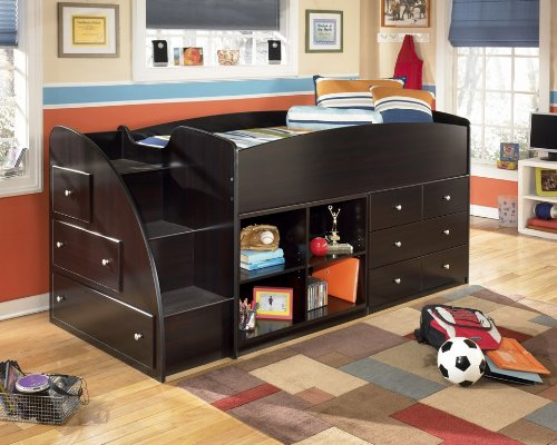 Hot Sale Embrace Youth Twin Loft Bed with Shelves & Drawers