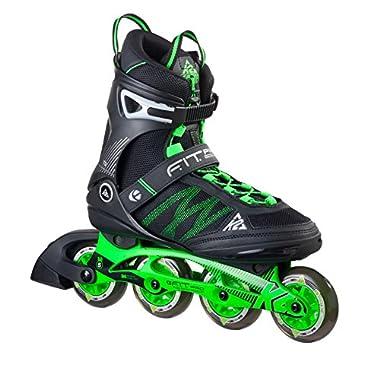 K2 Skate Men's F.I.T. Pro 84 Inline Skates, Black/Green, 13