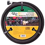 Rocky Mountain Goods Soaker Hose - Heavy duty rubber - Saves 70% water - End cap included for additional hose connect - Great for gardens/flower beds - Reinforced fittings (25-Feet by 5/8-Inch)