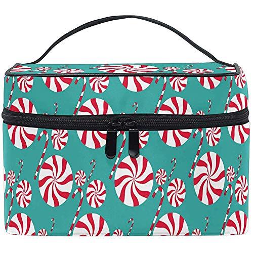 Joyeux Noël Bonbons Maquillage Sac Cadeau De Noël Vacances Cosmétique Sac Portable Zip Brosse Sac Organisateur De Stockage