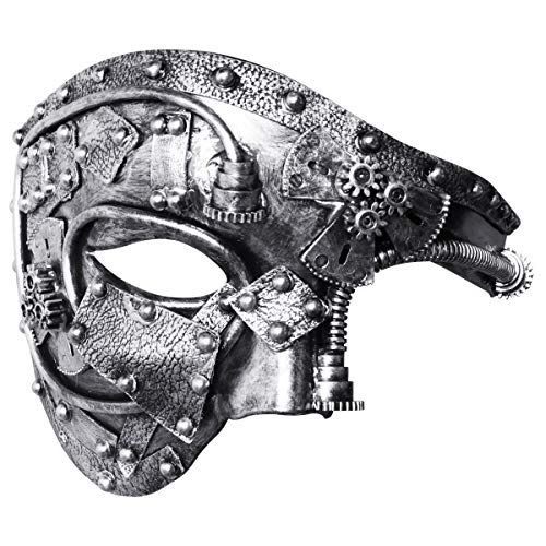 Coddsmz Masquerade Máscara de Steampunk Fantasma de la má