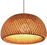 Bamboo Vine Plafoniere Semplice Moderno Paralume Bamboo Moderno Lampada sospesa rotonda Lampada a sospensione Lampada a schiera Panning illuminazione aderente pendente (Size : 30 * 17cm)