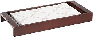 mDesign rangement salle de bain – système de rangement élégant en bambou pour lotions, maquillage et accessoire – tablette...