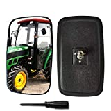 Espejo Retrovisor Lateral Espejo Retrovisor Compatible con Tractores Pequeños De Cuatro Ruedas Y Pequeños Caballos De Fuerza, Montacargas. Black