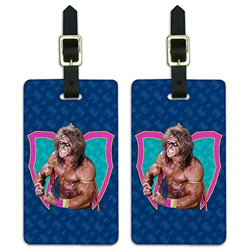WWE Ultimate Warrior Flex - Etichette per bagagli, 2 pezzi