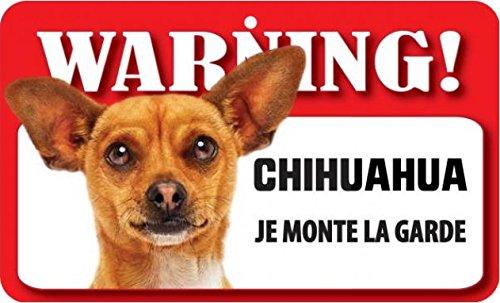 Plaque Je Monte la Garde chihuahua