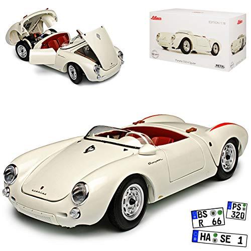 Schuco Porsche 550 A Spyder Cabrio Weiss 1953-1957 1/18 Modell Auto Modell Auto