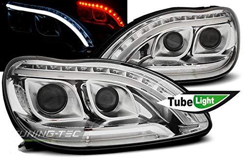 Shop Import Paire de Feux phares Classe S W220 98-05 Daylight LED Chrome (E96)