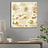 N / A Cartel inventado Pintura Cartel y Grabado Imágenes Creativas en la Sala de Estar Decoración para el hogar sin Marco 60x60cm