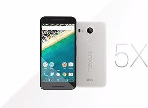 LG Nexus 5X Unlocked Smart Phone, 5.2in Quartz White, 16GB Storage, US Warranty (Renewed)