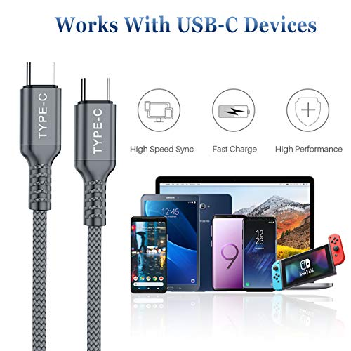 USB C to Type C 100W Cable 3M/2-Pack,Power Delivery Fast Charging PD Charger Cord for MacBook Mac M1,S21 21,iPad Pro 3rd 11 2018 Air 4th Generation,Samsung Galaxy Note 10 20 S20 A71 A90 5G Plus Ultra