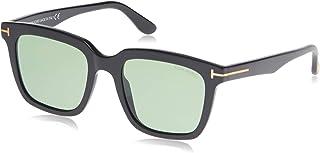Tom Ford Men's Marco TD-FT0646 01N Square Sunglasses, Black, 53 mm