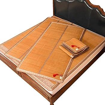 WXH Matelas Bamboo Mat Pliant Lit Dortoir Individuel Double Face Mat Bambou (Taille : 1m×1.9m)