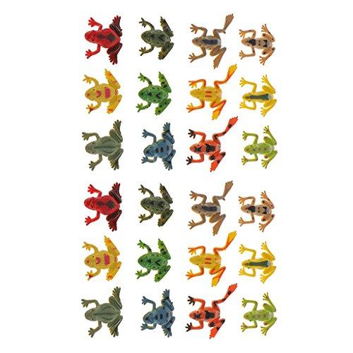 lahomia 2X 12x Modelos de Animales de Plástico Figuras de Ranas Pequeñas Juguete
