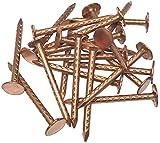 AERZETIX - Juego de 20 - Clavos con cabeza plana ancha puntas - Ø2.8x40mm - en cobre - para chapa...