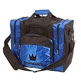 Brunswick Edge Single Tote Bowling Bag, Blue