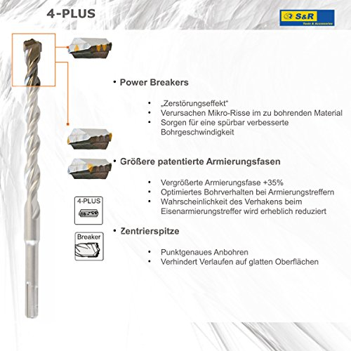 S&R Hammerbohrer-Set SDS Plus 7-tlg - 7