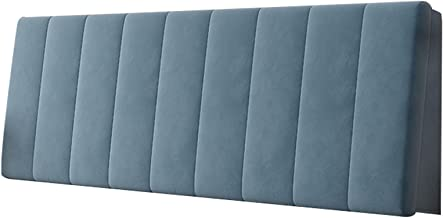 Headboards Cover Protector Padded Headboard Cover Anti-Collision and Scratch Resistance Dustproof Slipcover (Color : Blue,...