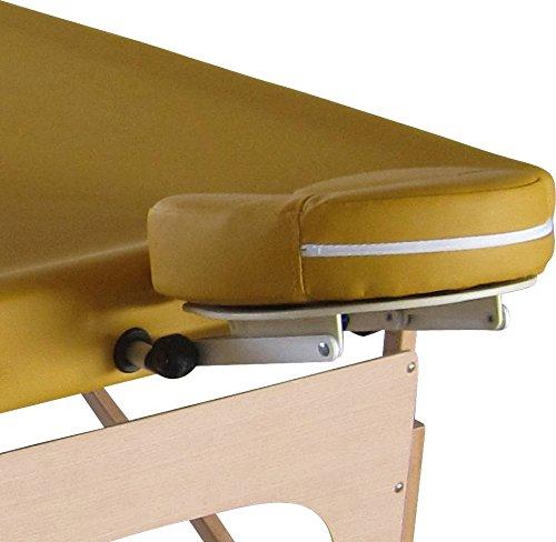Reguläre Kopfstütze für Mobile Ayurveda Massageliege, gelb